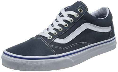 Vans Unisex-Erwachsene Old Skool Sneaker, Blau (Midnight Navy/True White), 42.5 EU