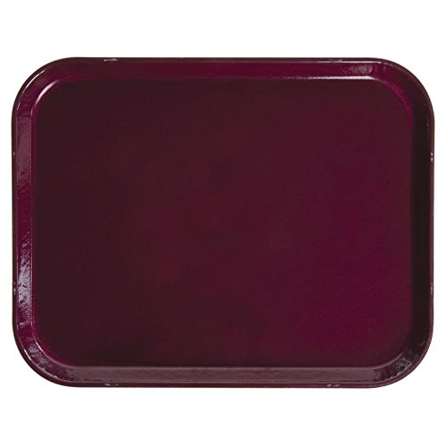 Cambro Camtray Rectangular Burgundy Wine Fiberglass Tray - 14