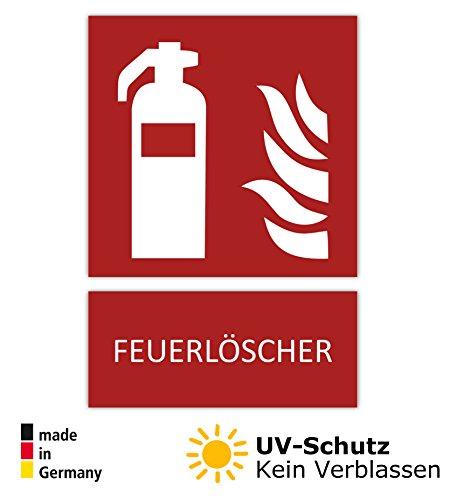 5 Feuerlöscher Aufkleber Symbol,10,5 x 14,8 cm Brandschutzzeichen, Schild (wetterfest), Aussenklebend, Hinweis, Piktogramm, Feuerlöscherkasten für Haus, Büro und LKW