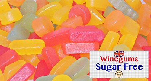 Retro Candy englisches Weingummi OHNE ZUCKER XXL 1000g Premium Qualität in der Frischebox