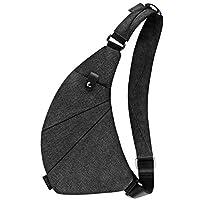 MRang schoudertassen herentas crossbody tas Chest Pouch schoudertas voor outdoor-sport reizen wandelen