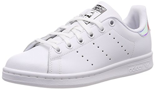 adidas Stan Smith J Sneaker, Bambino, Multicolore (White Ftwwht/Metsil/Ftwwht), 38 EU (5 UK)