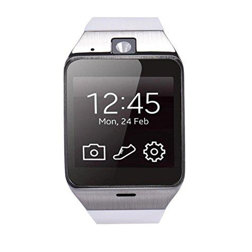 Hunpta Aplus GV18 Smart Handy GSM NFC Kamera wasserdichte Armbanduhr Compatible Für Samsung iPhone (Weiß)
