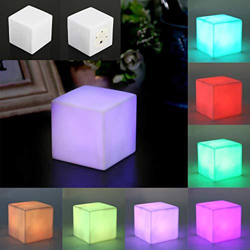 LED Nachtlicht Bunte Wechselnd Stimmung Cube Leuchttischlampe Gadget Flur Lampen Urlaub Wandleuchten für Home Wohnzimmer Party Desk Wall Decor Urlaub Led