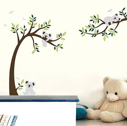 ufengke® Großer Baum Cartoon Tiere Koala Wandsticker, Babyzimmer Kinderzimmer Entfernbare Wandtattoos Wandbilder -