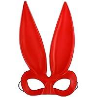 Amosfun Máscara de Conejito Disfraz de máscara de Conejo de Media Cara máscara de Mujer Traje