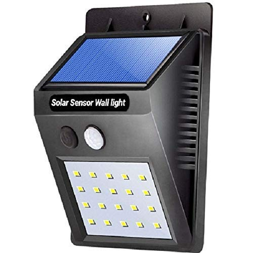 SHOPPO SHOP™ Weatherproof Wireless Security Solar Motion Sensor LED Wall Light (Multicolour)