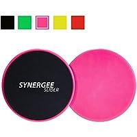Synergee Gleitscheiben Core Sliders. Beidseitige Verwendung auf Teppich oder Hartholzböden. Gerät für Bauchtraining