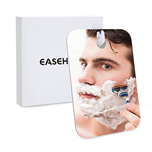 Easehold Espejo Afeitado Antivaho Ducha Baño Espejo Inastillable para Afeitar Antiniebla, Regalo Original para Hombre