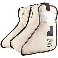 Botas Zapatos Almacenamiento Zip Bag Non-Woven A prueba de polvo Home Travel Portable Organizer(Beige-S)