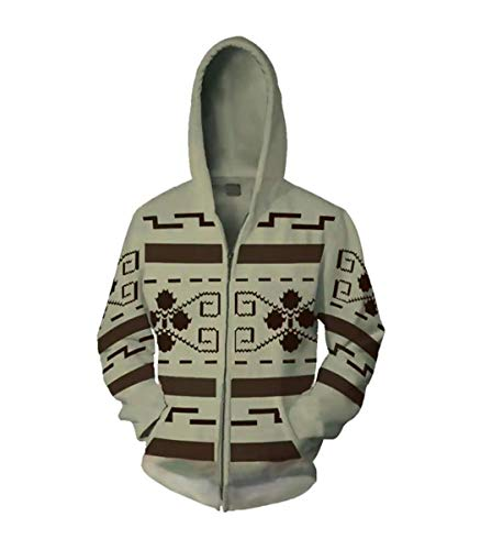 IDEALcos Dude Lebowski Cosplay Kostüm Zipper/Pullover Kapuzenpulli (L, - Lebowski Pullover Kostüm