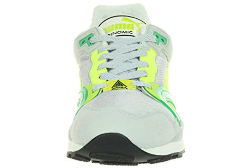 Puma Trinomic XT 2 Plus Mens Trainers Sneaker Trainers 355868 01 grey Grigio (glacier gray / fluro yellow)