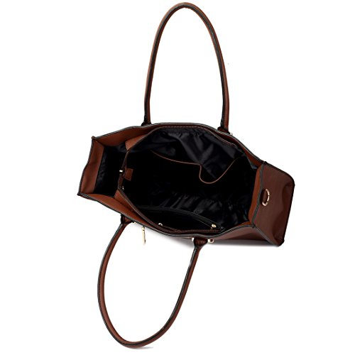 Miss Lulu , Damen Tote-Tasche 1509 Brown