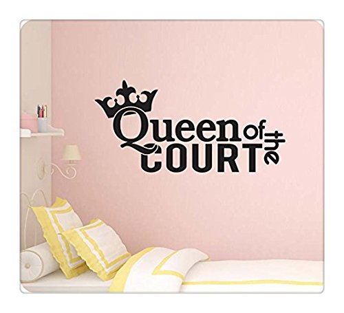 """wandaufkleber 3d schlafzimmer Wall Sticker 44"""" Queen of the Court Volleyball Tennis Sports Coach Crown Wall Decal Sticker Art Mural Home Décor Quote"""