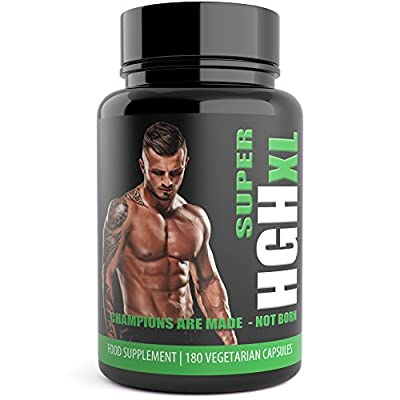 SUPER HGH XL 180 Testosterone Supplements Testo XL Black Edition Testosterone Boosters for Men. Sports Supplement by Natural Answers from Natural Answers