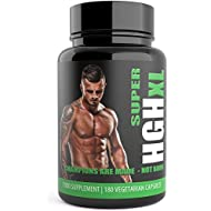 Super HGH XL 180 Testosterone Supplements Testo XL Black Edition Testosterone Boosters for Men. Sports Supplement by Natural Answers