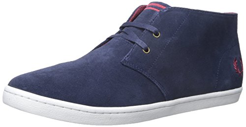 Fred Perry Byron Mid, Bottes pour Homme Bleu