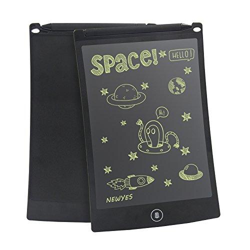 Newyes 8.5-Zoll LCD Grafiktablet/ LCD Writing Tablet/ Schreiben Tablet/ Elektronischer Notizblock mit Stift umweltfreundlich für Schreiben und Malen (Schwarz)