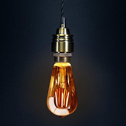 Retro-Vintage-LED-4w-Squirrel-Cage-Edison-Style-Filament-Bulb-Smoked-Gold-Glass-ST58-E27-Edison-Screw