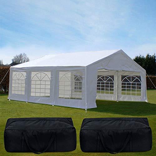 Mit Luftballons für DECO! Quictent Partyzelt 4 x 6 M (3.96 meters 5.79 meters 1 x 8) weiß, Dach Pavillon PE Gartenzelt Zelt Partyzelt,