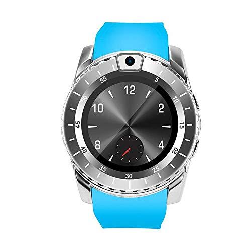 Herren Bluetooth Smartwatch Sportuhr Fitnessuhr Intelligente Armbanduhr mit Schrittzähler Pulsmesser Schlafmonitor Kompatibel Android (Blau) (Google Qq)