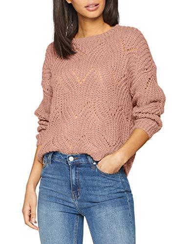 ONLY Damen onlHAVANA L/S KNT NOOS Pullover, Beige (Shadow Gray), 42 (Herstellergröße: XL)