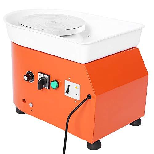 Keramikscheibe, 250W Orange Pottery Wheel Machine Ceramic Wurfformwerkzeug Manuelle Geschwindigkeitsregelung(EU-Stecker)