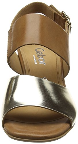 GaborObelisk - Sandali donna Oro (Gold (Platinum Metal/Brown Leather))