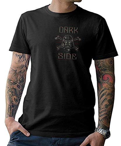 NG articlezz - Dark Side T-Shirt - Vader Skull - mit Front- und Rückenprint Gr. S-5XL - Dark Side Vintage-t-shirt