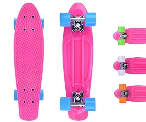 City Rider™ Skateboard Pink-Original Mini Cruiser Skateboard 22 Zoll /