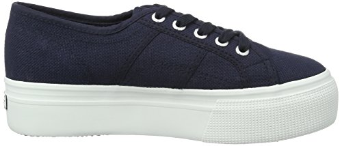 Superga Damen 2790-Acotw Linea Up and Down Sneaker Blau (Navy-Offwhite)