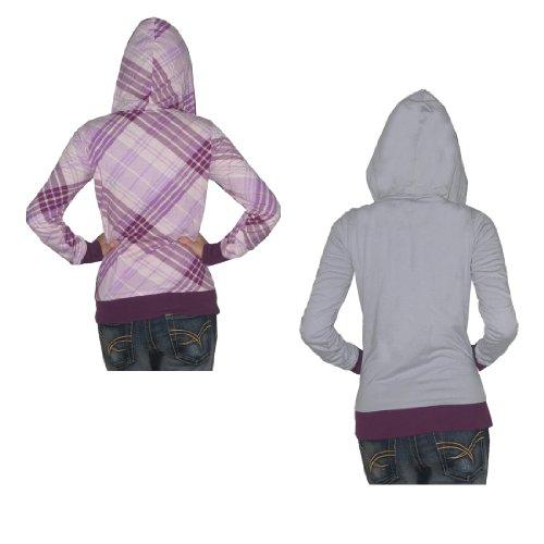 Damen DC Surf & Skate Reversible Hoodie Sweatshirt Jacket Mehrfarbig