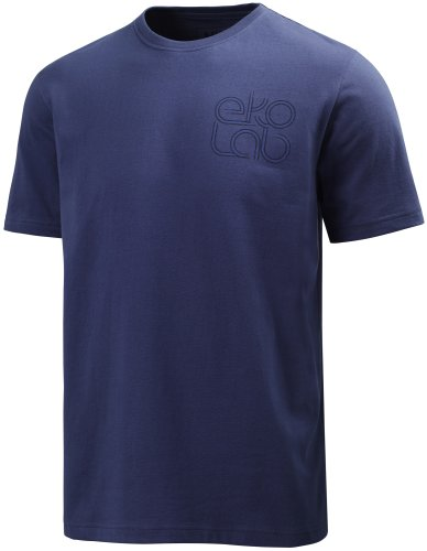 Helly Hansen Herren EKOLAB Short Sleeve Tee, Herren, Lake Blue Print (Lake Sleeve Shirt Short)