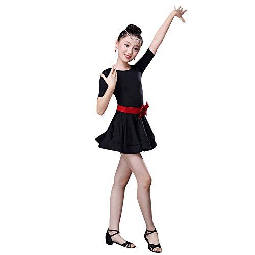 Tanz Themen Tier Kostüm - Xmiral Kleinkind Tanz Kostüme Kinder Mädchen Latin Ballett Kleid Party Dancewear Kostüm für Karneval Mottoparty(110,Schwarz)