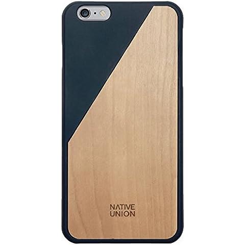 Native Union CLIC Wooden - Carcasa de madera auténtica hecha a mano para iPhone 6 Plus, azul