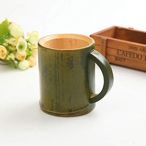 Erjialiu 50 Teile/los Handgemachte Natürliche Bambus Teetasse Becher Bier Milch Tassen Mit Griff Umweltfreundliche Reise Handwerk Geschenke Dekoration,Stil 1