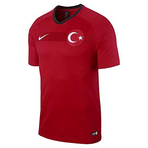 Nike Herren Breathe Turkey Football Top SS T-Shirt, University Red/Black/White, S