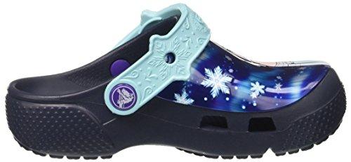 Crocs Funlabfrznclg, Sabots Fille Bleu (Navy)