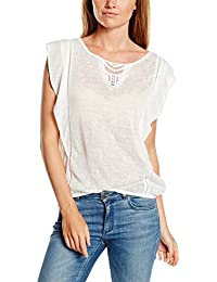 TOM TAILOR Denim Damen T-Shirt Volantshirt with Crochet