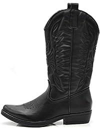 If Fashion Cowboy Western Scarpe da Donna Stivali Stivaletti Punta Camperos  Texani Etnici DT-16 d3f8f8408b6f