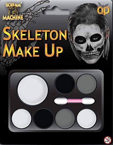 B-Creative Halloween Make-UP-Farbe Multi-Paletten-KIT Skelett Schädel Fancy Kleid -