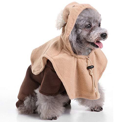 Katze Ghost Kostüm - TOOGOO Ghost Pet KostüM Cosplay Wizard HundekostüM Halloween Festival Party Hundebekleidung KostüM Haustier Katze Welpe L