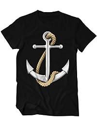 Anker Hafen Hansestadt Fischermann T-Shirt Herren