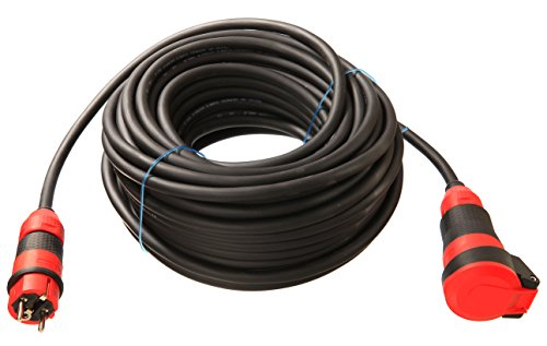 as - Schwabe SchukoUltra II Gummi Verlängerungsleitung H07RN-F 3G2,5, 50 m, extrem robust, für Gewerbe / Außenbereich, schwarz, 62254