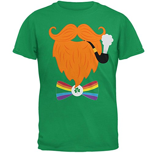 tüm Rainbow Fliege Herren-T-Shirt Irischen Grünen LG (Halloween Kobold Kostüme)