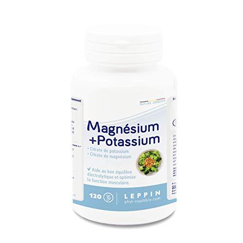 Leppin - Magnesium + Kalium, 120 Kapseln, Vegan   Optimaler Stoffwechsel   alkalisierende Wirkung   remineralisierende Mineralcitrate   hohe Bioverfügbarkeit - Citrat 120 Kapseln