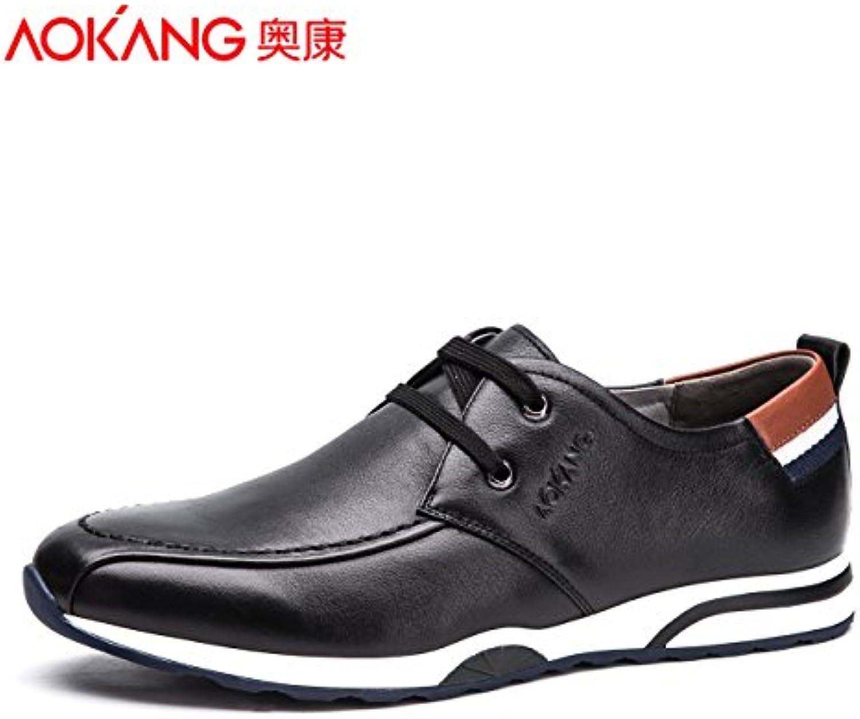 Aemember zapatos de hombre y cómodos zapatos casual urbana de Hombres Jóvenes mordaza ,38, negro  -