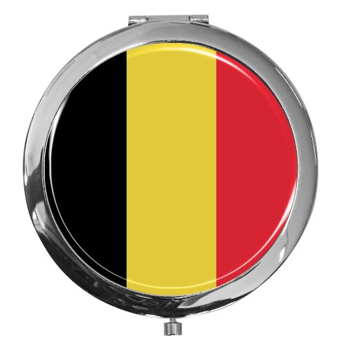 Miroir de poche / Drapeau la Belgique / Double agrandissement