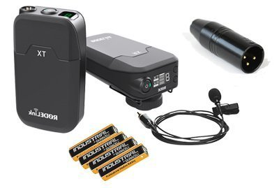 RØDELink Filmmaker Radiomicrofono Pulga Rode RL-FILM KIT con XLR adaptador + 4 AA alcalinas - RØDELink Digital Wireless Audio System RØDE