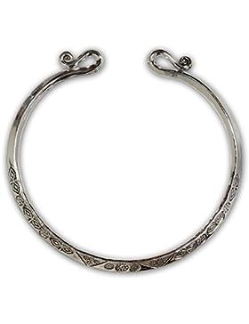 Fly Style Wikinger Kelten Armreif Armband 925 Silber Damen Herren Modell Lathgertha Verstellbar